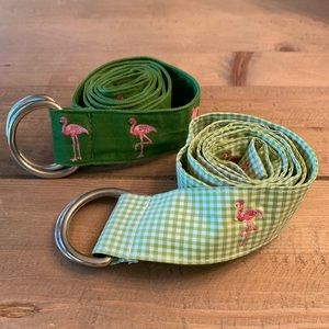 J.crew Flamingo Belts (set of two) in pink & green